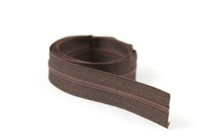 Zíper Fino Marrom 2,5cm Coats