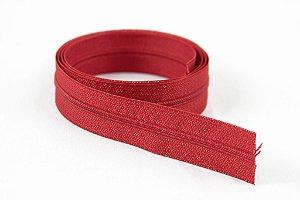 Zíper Fino Vermelho 2,5cm Coats