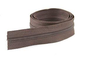 Zíper Grosso Marrom 3cm Coats