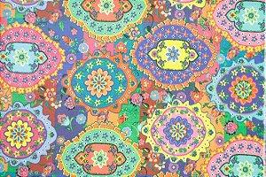 Tecido para Patchwork Estampa Digital Indian (0,50m x 1,40m)