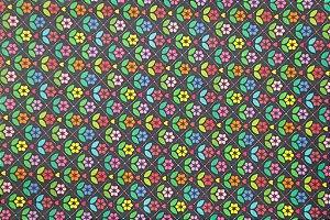 Tecido para Patchwork Estampa Digital Kliu (0,50m x 1,40m)