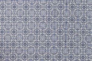 Tecido para Patchwork Azulejo 1 (0,50m x 1,50m)