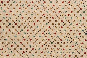 Tecido para Patchwork Poá Colorido Rosa (0,50m x 1,50m)