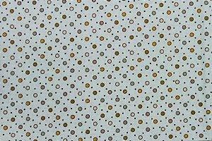 Tecido para Patchwork Poá Colorido Verde (0,50m x 1,50m)