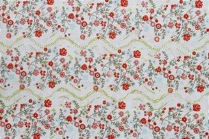 Tecido para Patchwork Floral Bege (0,50m x 1,50m)
