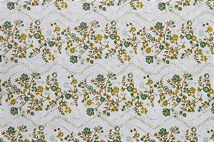 Tecido para Patchwork Floral Verde Claro (0,50m x 1,50m)