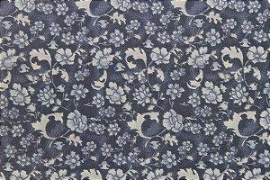 Tecido para Patchwork Floral Rimatex Azul (0,50m x 1,50m)