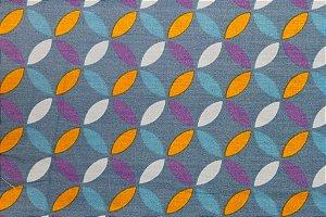Tecido para Patchwork Interlocking Azul (0,50m x 1,50m)