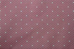 Tecido para Patchwork Poá Branco fd. Rosa (0,50m x 1,50m)