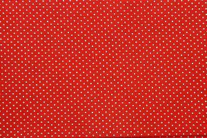 Tecido para Patchwork Poá Branco fd. Vermelho (0,50m x 1,50m)