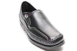 00d7dfef0 Sapato antistress dia-a-dia em mestiço, forrado couro 3018 Preto