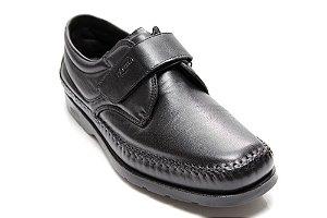 f35572491 Sapato antistress dia-a-dia em mestiço, forrado couro 3012 Preto