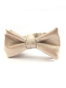 Gravata Couro Dourado