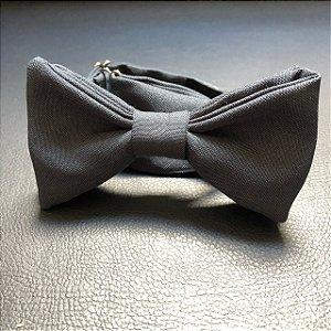 Gravata Borboleta Oxford Azul