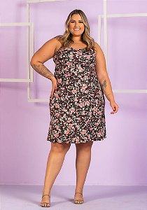 Vestido Estampado Rafaela Plus Size