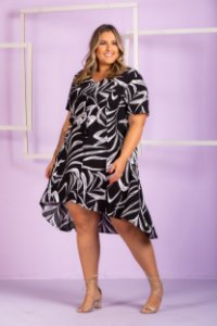 Vestido Estampado Karina Plus Size