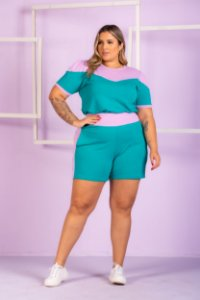 Blusa em Malha Andreza Plus Size