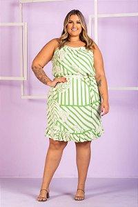 Vestido Estampado Sarah Plus Size