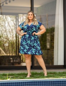 Vestido Estampado Adriana Plus Size