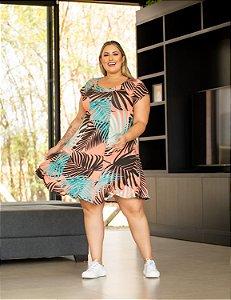 Vestido Estampado Monica Plus Size