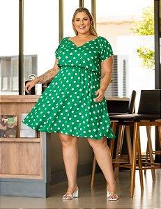 Vestido Poá Daniela Plus Size