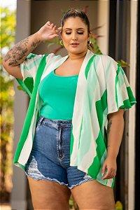 Kimono Estampado Mariane Plus Size