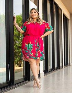 Vestido Estampado Laura Plus Size