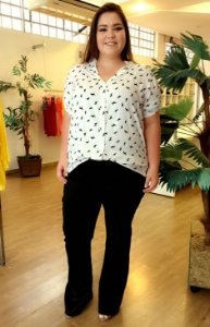Camisa Class Stamp Plus Size