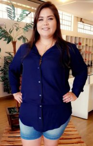 Camisa Long Fashion Plus Size
