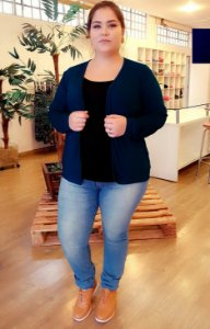 Cardigan de Malha + Regata Incluso