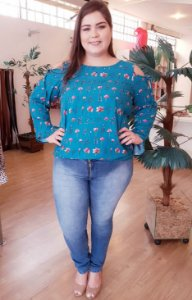 Blusa Love Plus Size