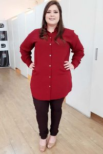 Camisa Long Fashion Plus Size