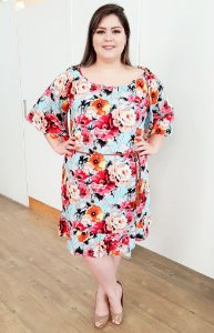 Vestido Estampa Floral Doce Menina Plus Size