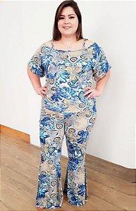 Conjunto Flexível Ocean Blue (Blusa + Calça Pant)