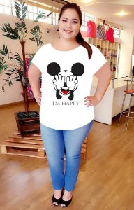 T-Shirt Mickey Happy Plus Size