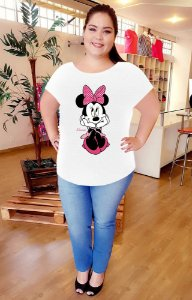 T-Shirt Minnie White Plus Size