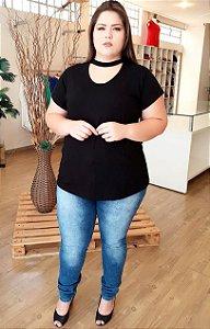 Blusa Choker Plus Size