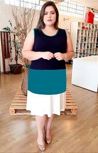 Vestido em Malha de Cores