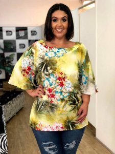Blusa Beach Plus Size