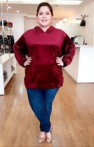Blusão Veludo Molhado Plus Size