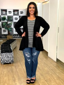 Cardigan Long Island Plus Size