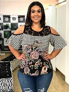 Blusa Xadrez Princesa Plus Size