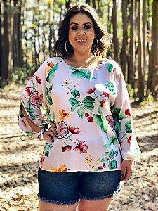 Blusa Floral Dover Plus Size