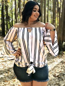 Blusa Minneapolis de Listras Plus Size