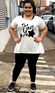 Blusa The Great Love Plus Size