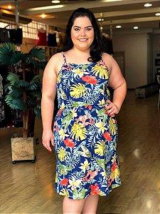 Vestido Floral Havaí Plus Size
