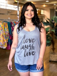 Blusa Love Laugh Live