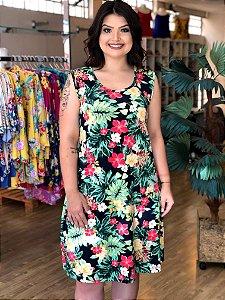 Vestido de Malha Leveza Plus Size