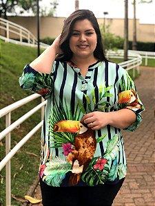 Camisa Parrot de Listras Verticais