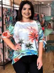 Blusa Palm Beach Plus Size